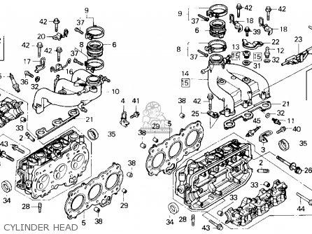 Honda Gl1500 Goldwing 1988 (j) Usa California parts list