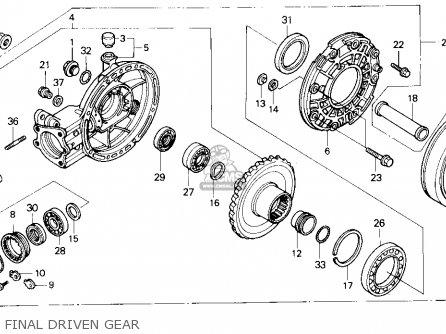 Honda GL1500 GOLDWING 1988 (J) USA CALIFORNIA parts lists