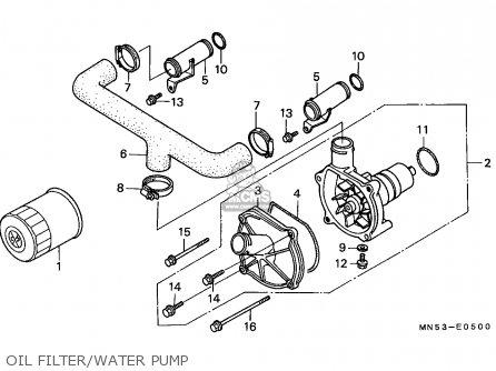 Honda Gl1500 Goldwing 1989 France / Kph Yb parts list