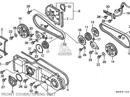 Honda Gl1500 Goldwing 1989 (k) Belgium / Kph parts list