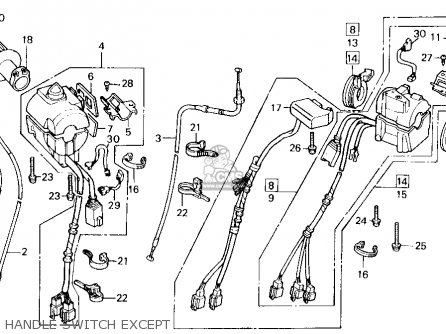 Honda GL1500 GOLDWING 1989 (K) USA CALIFORNIA parts lists