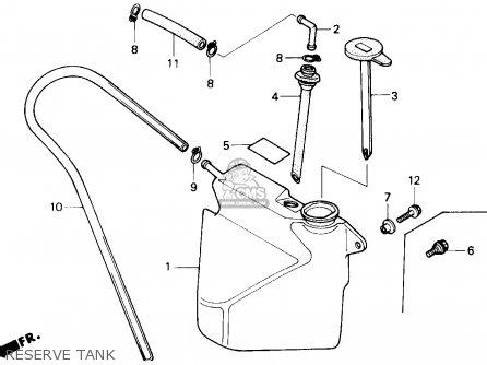 Honda Gl1500 Goldwing 1989 (k) Usa California parts list
