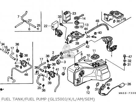 Honda Gl1500 Goldwing 1989 Spain / Kph parts list