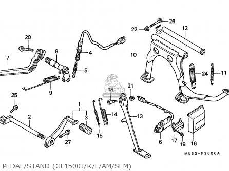 Honda GL1500 GOLDWING 1990 (L) FRANCE / YB parts lists and