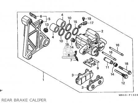 Honda Gl1500 Goldwing 1990 (l) Germany parts list