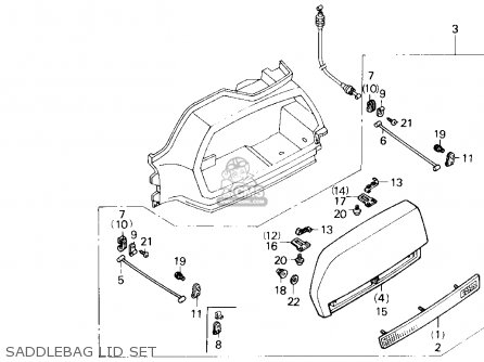 Honda GL1500 GOLDWING 1990 (L) USA CALIFORNIA parts lists