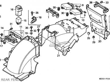 Honda Goldwing 1500 Engine Honda Motorcycles wiring