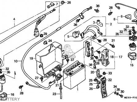 Honda Gl1500a Goldwing Aspencade 1994 France Kph Battery