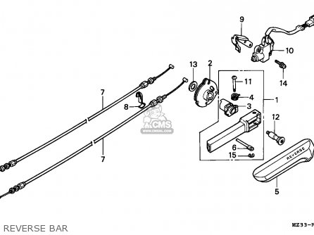 Honda Gl1500a Goldwing Aspencade 1994 France Kph Reverse Bar