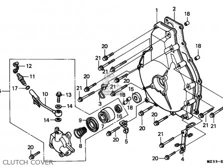 Honda Gl1500a Goldwing Aspencade 1994 (r) France Kph parts