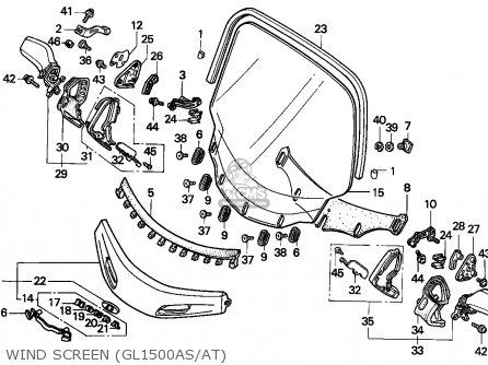 Honda Gl1500a Goldwing Aspencade 1996 Finland / Kph parts