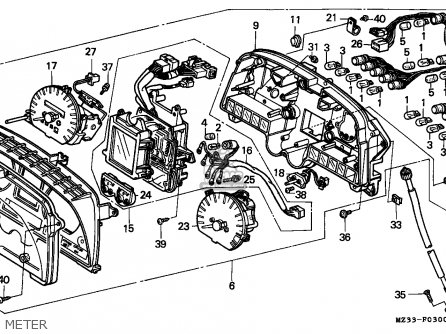 Honda Gl1500a Goldwing Aspencade 1996 France / Kph parts