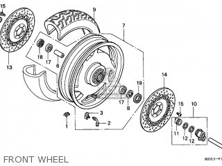 Honda GL1500C VALKYRIE 1997 (V) CANADA / RBM parts lists