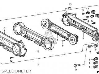 Honda Gl1500cf Valkyrie Interstate 1999 (x) Usa parts list