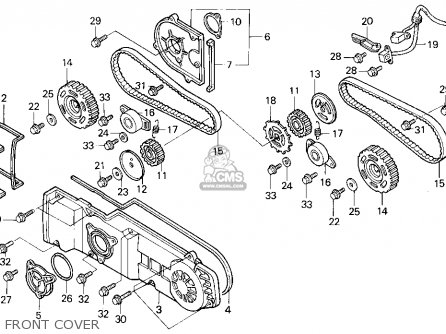 Honda Gl1500i Gold Wing Interstate 1994 Usa parts list