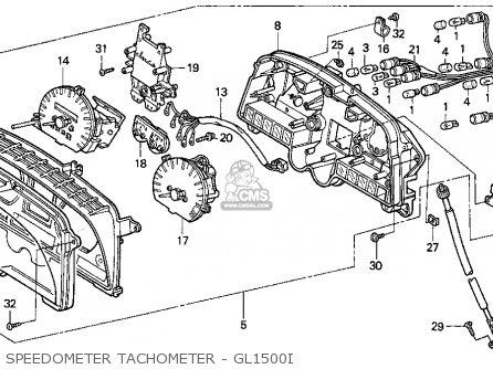 Honda Gl1500i Gold Wing Interstate 1994 Usa Speedometer