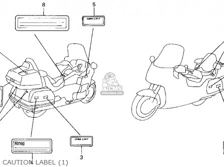 Honda GL1500I GOLDWING INTERSTATE 1994 (R) USA CALIFORNIA