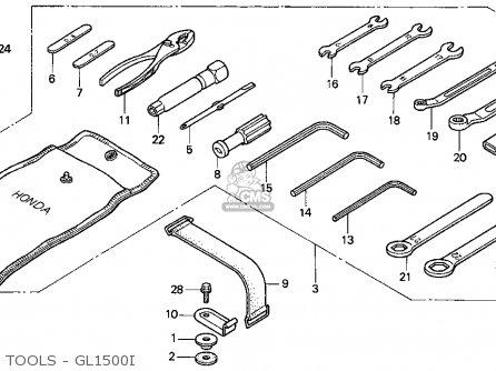 Honda GL1500I GOLDWING INTERSTATE 1995 (S) USA CALIFORNIA