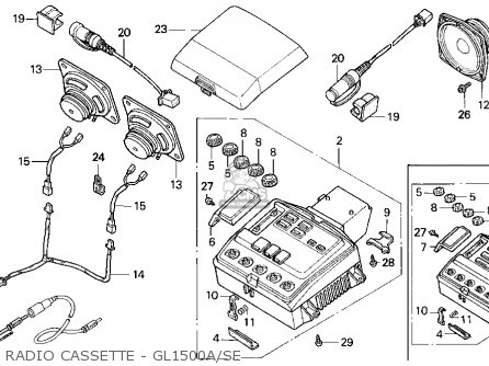 Honda Gl1500se Gold Wing Se 1995 Usa parts list