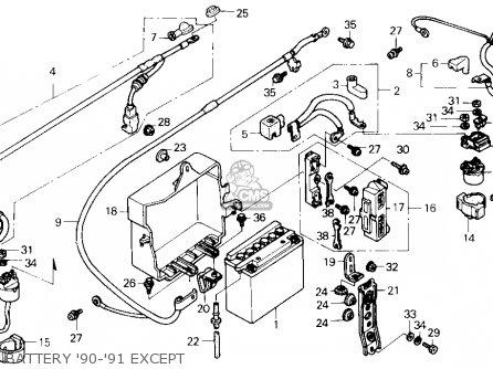 Honda Gl1500se Goldwing 1990 (l) Usa parts list