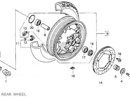 Honda Gl1500se Goldwing 1993 (p) Usa California parts list