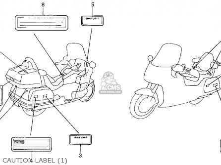 Honda GL1500SE GOLDWING 1994 (R) USA CALIFORNIA parts