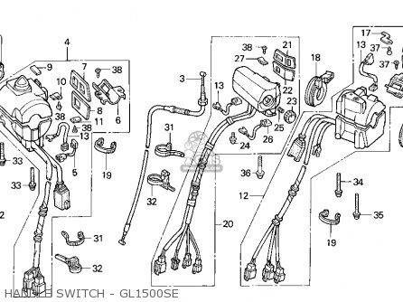 Honda Gl1500se Goldwing 1995 (s) Usa California parts list