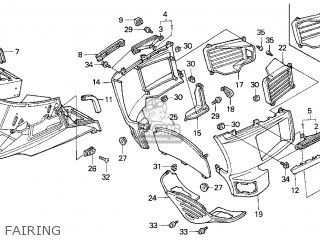 Honda Gl1500se Goldwing 1997 (v) Usa California parts list