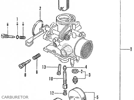 Honda Gl175 General Export parts list partsmanual partsfiche