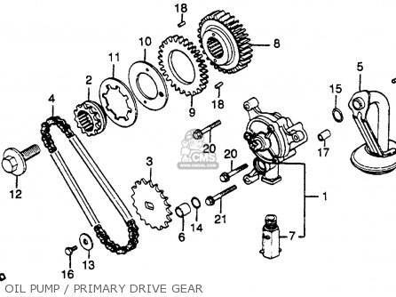 Honda Gl500 Silver Wing 1982 Usa parts list partsmanual
