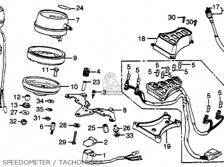 Honda Gl500 Silverwing 1981 (b) Usa parts list partsmanual