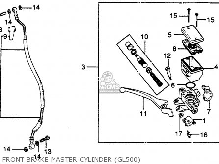 Honda GL500 SILVERWING 1982 (C) USA parts lists and schematics
