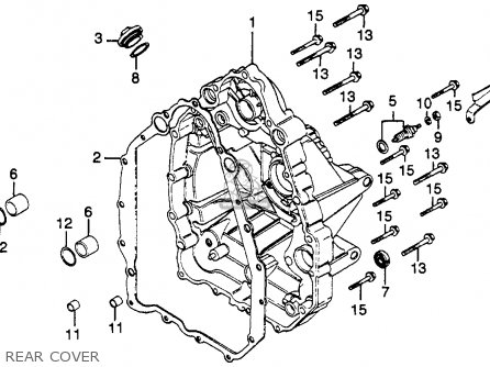 Honda Gl500 Silverwing 1982 (c) Usa parts list partsmanual
