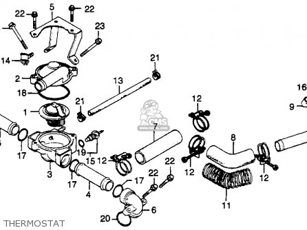 Honda Gl500 Silverwing 1982 (c) Usa parts list partsmanual