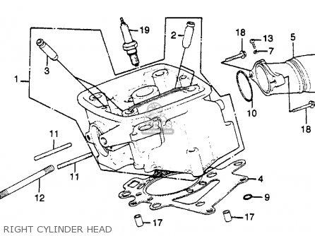 Honda Gl500i Silver Wing Interstate 1981 Usa parts list