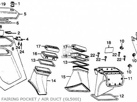Honda GL500I SILVERWING INTERSTATE 1981 (B) USA parts