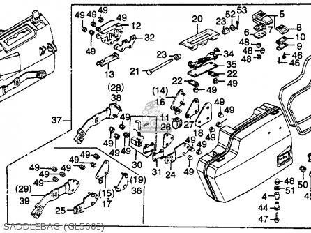 Honda Gl500i Silverwing Interstate 1982 (c) Usa parts list