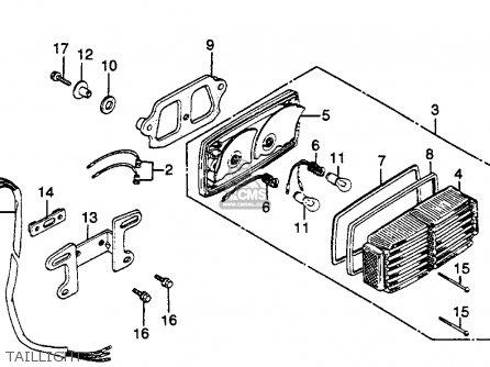 Honda GL500I SILVERWING INTERSTATE 1982 (C) USA parts