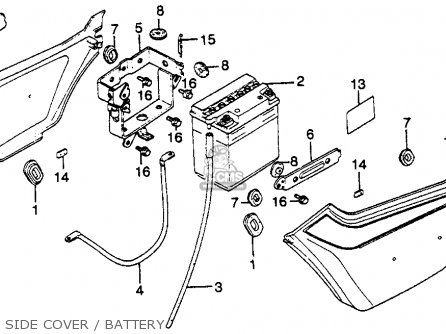 Honda Gl650 Silverwing 1983 (d) Usa parts list partsmanual