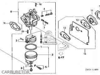 Honda GS190A\VXU\14Z2C401 parts lists and schematics
