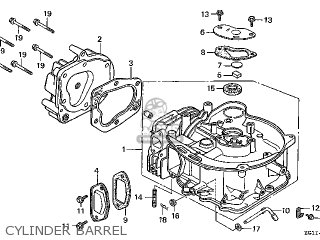 Honda Gv100\a1\13zg1ie1 parts list partsmanual partsfiche