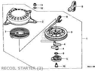 Honda GV100\A1\13ZG1IE1 parts lists and schematics