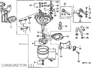Honda GX120K1\QD\14ZK7403 parts lists and schematics