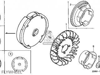 Honda GX160\QWA4\14ZH80E9 parts lists and schematics