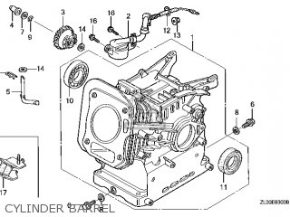 Honda GX200\RH26\14ZL00E4 parts lists and schematics