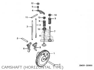 Honda Gx22\sa\14zm30e9 parts list partsmanual partsfiche