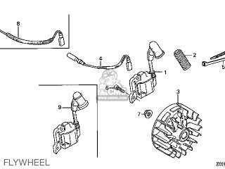 Honda GX25\SATM\14Z0H0E4 parts lists and schematics