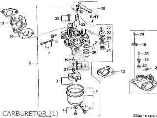 Honda GX340\QH\10ZE301 parts lists and schematics