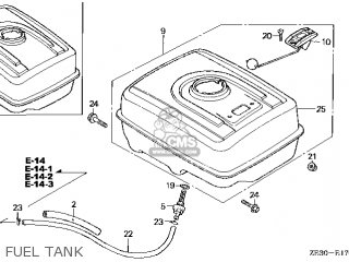 Honda GX340\QX\10ZE301 parts lists and schematics