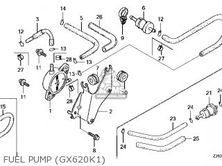 Honda GX620\QKW\14ZJ11E2 parts lists and schematics